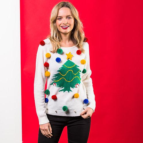 Women's Christmas 3D Tree jumper, riva gifts