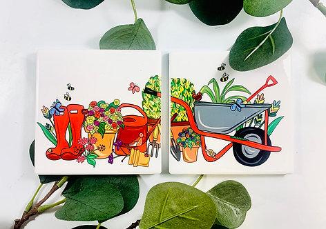 Matching Garden Coster set