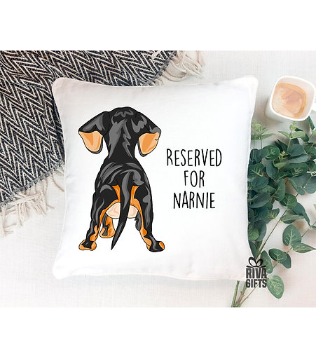 Cushion Cover, Love My Dachshunds Bum, Personalised