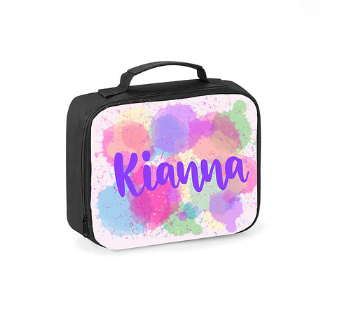 Lunch Box, Personalised, Paint Splodge, Lunch Cooler