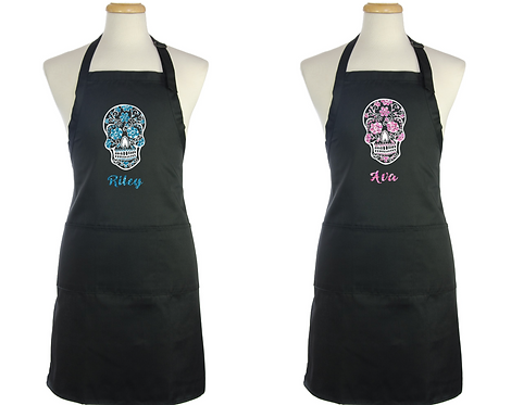 Day of the dead Personalised Apron, RIVAGIFTS
