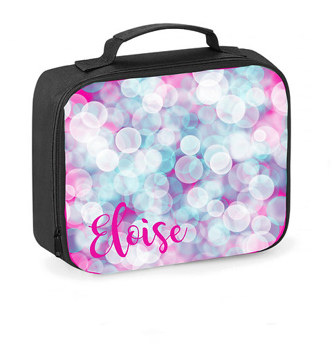 Lunch Box, Personalised, Girls Gift, Bubble, Lunch Cooler