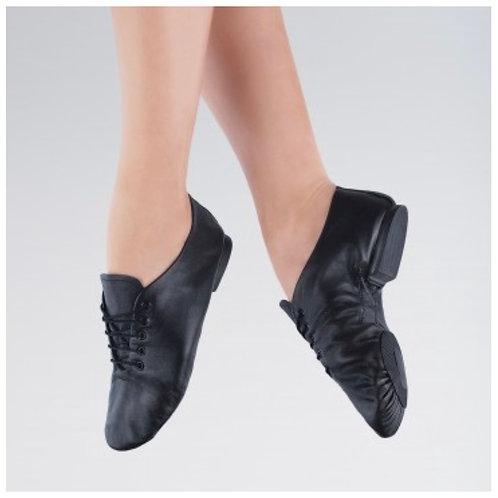Leather Lace Up Jazz Shoe, Split Sole SSJ