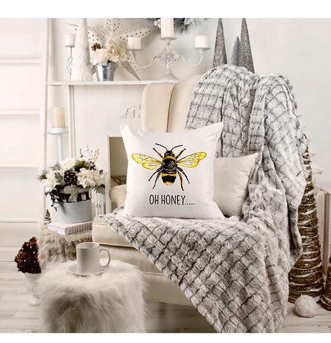 Oh Honey... Bee Happy Cushion Cover