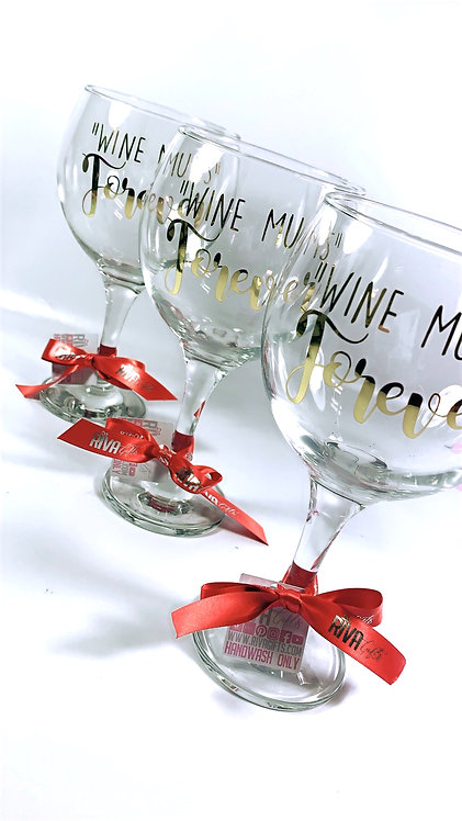 Personalised Gin Glass, Wine Mums