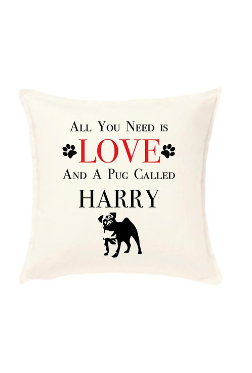 All you need is you and your dog cushion cover, personalised animal gifts, riva gifts