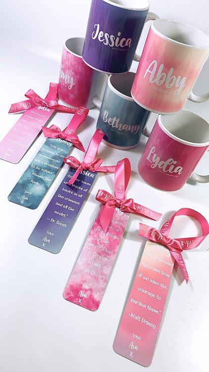 Bookmark and Mug Set