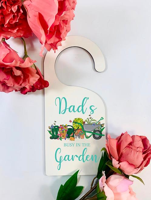 Door Hanger, Love My Garden, Personalised