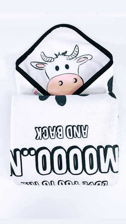 Love you to the mooon..Hooded Towel, New baby, toddler gift FROM RIVA GIFTS
