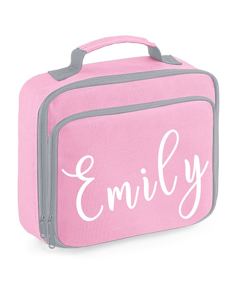Lunch Box with name, pink