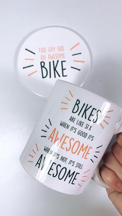 Bikes Are Awesome Mug