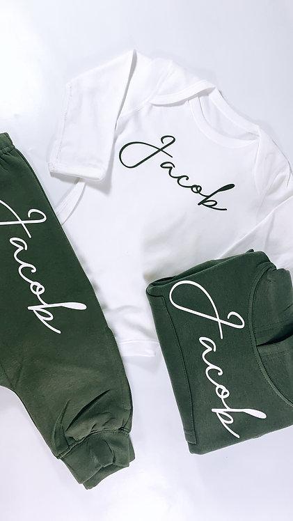Matching Name Set, Jogger and T-shirt