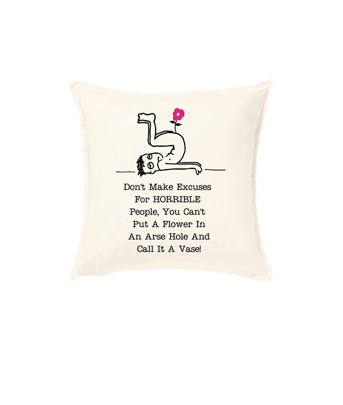 funny life quote cushion, riva gifts