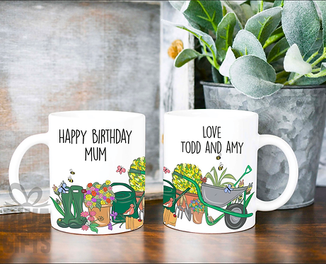 Ceramic Mug, Love My Garden, Personalised