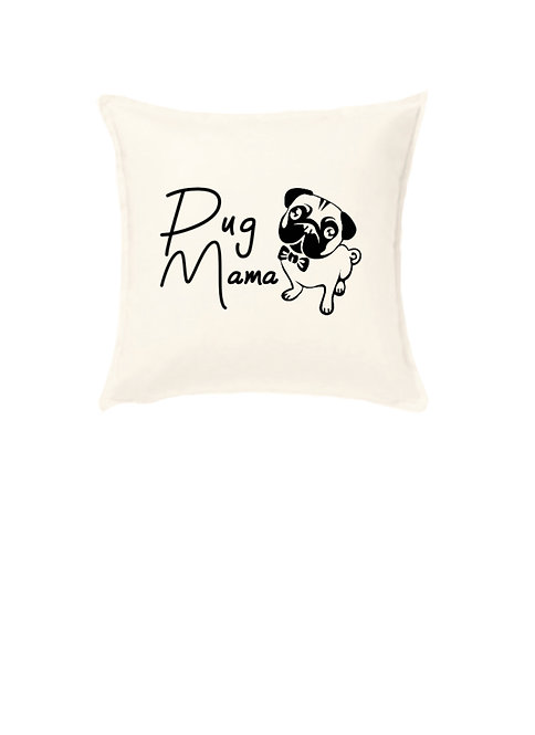 Black Pug Cushion, Personalised Pet Owner Gift, pug owner gifts