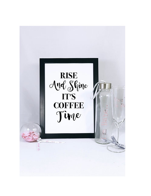 good morning print a3, a4 coffee print, Riva gifts, personalised prints