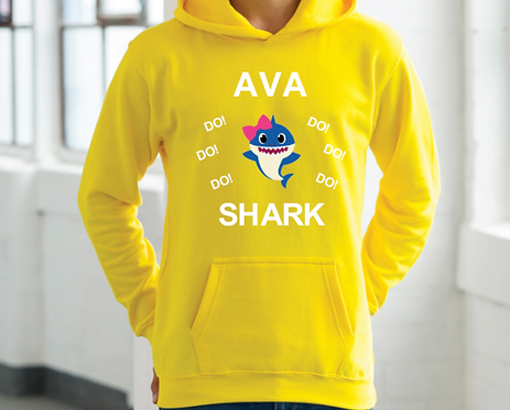 Baby Shark, do do do, Personalised Hoodie