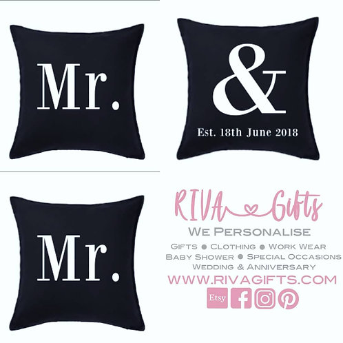 Mr & Mr Cushions (Pack of 3)