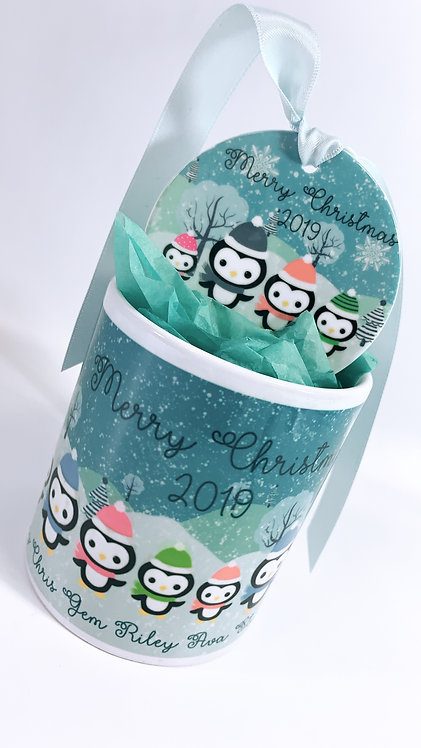 Christmas Mug and Ceramic Printed Bauble, 7.5cm