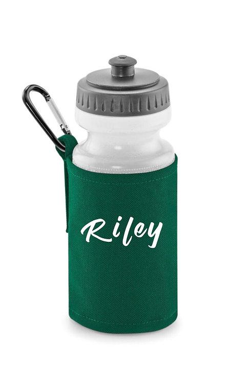 Drinks Bottle, Drinks Jacket, Personalise Green