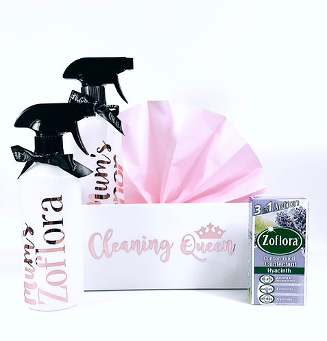 Zoflora Cleaning Hamper, Filled Personalised Cleaning Gift, Mrs Hinch gifts