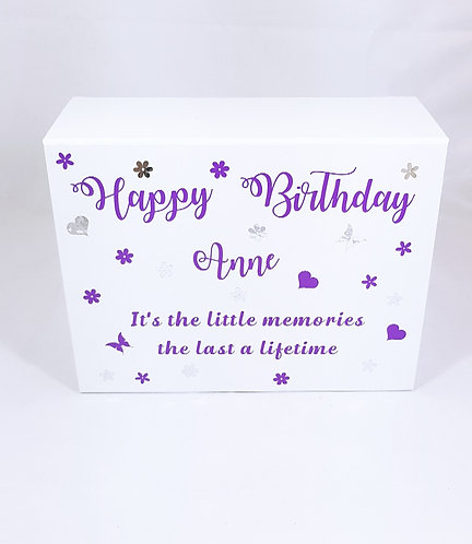 Birthday Memory Box, Personalised, A5, A4 or A3