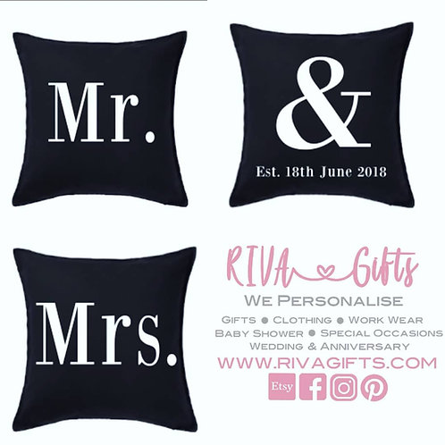 Mr & Mrs Cushions (Pack of 3)