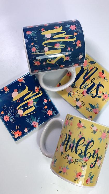 Wedding, Mug and Coaster Set