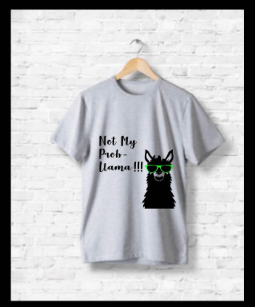 Not my prob lama, kids t-shirt