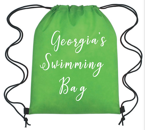Drawstring Bag, Personalised