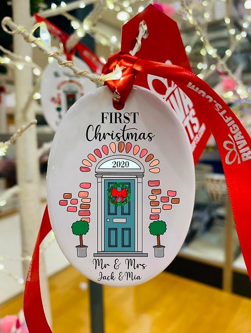Personalised Front Door Bauble , Personalised New Home