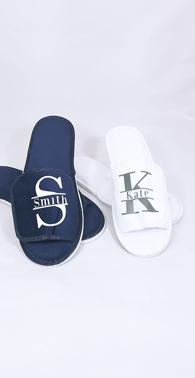 Personalised slippers from riva gifts