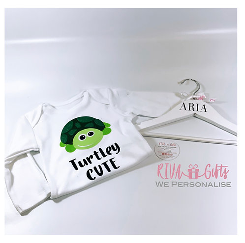 Turtley Cute, Baby Vest, Hanger and Bag Gift Set