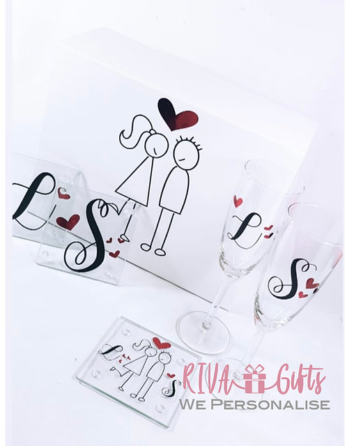Stickman Love, Keepsake Memories Box, A4, sweetheart gifts, valentines gift, RIVA gifts, gifts for couples
