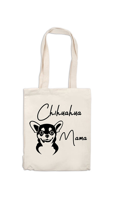 Frenchie Mama Canvas Bag, dog owner gift, personalised