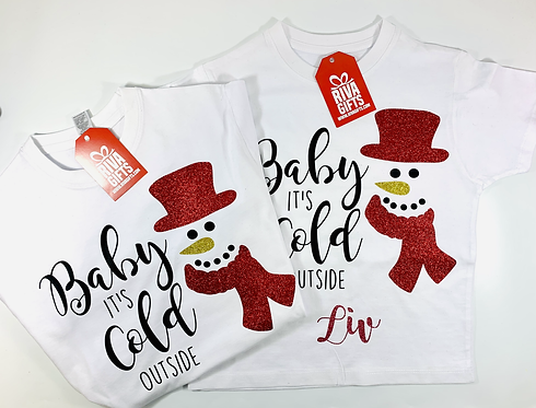 Christmas Snowman Family T-shirts