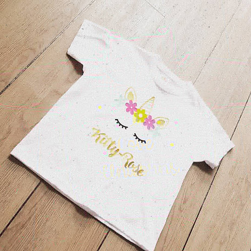 Kids Unicorn T shirts, personalised, British,