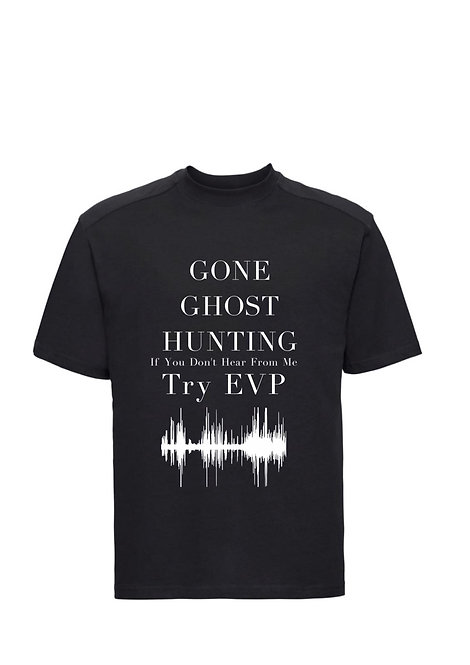 Gone Ghost Hunting personalised T-Shirt from riva Weston super mare