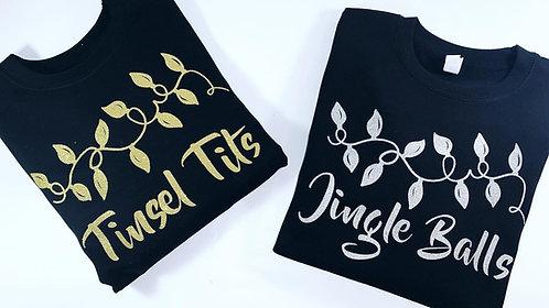 Funny Christmas Jumper, Tinsel Tits, Jingle Balls