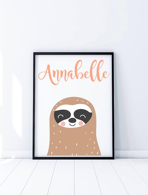 New Baby Nursery Print, Animal Theme