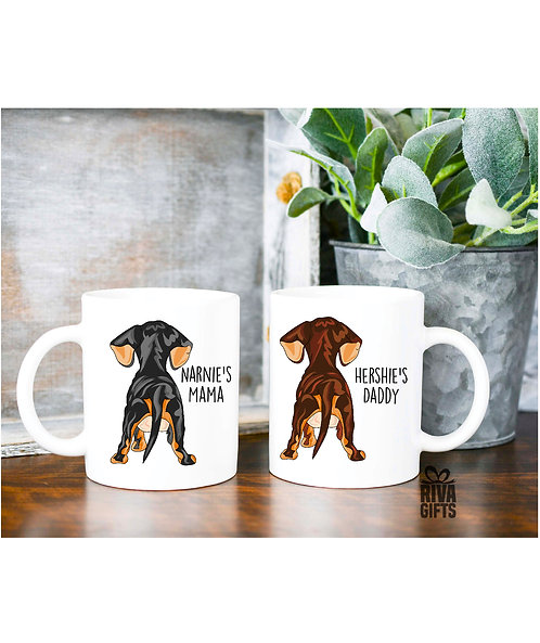 Ceramic Mug, Love My Dachshund's Bum, Personalised