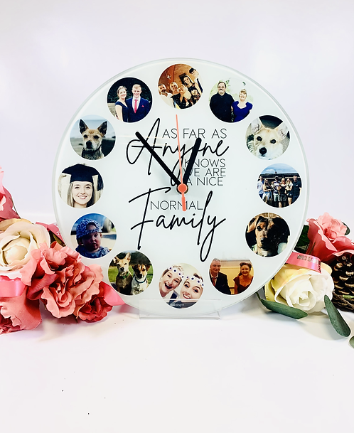 Personalised Photo family Clock in colour