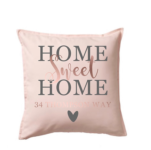 Personalised Home Sweet Home Cushion Cover