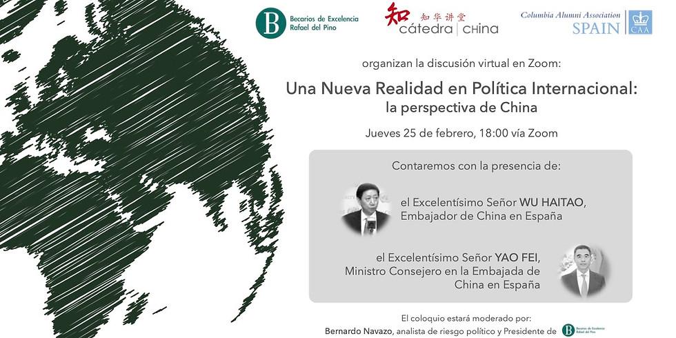 WEBINAR: Una Nueva Realidad en Política Internacional: la perspectiva de China