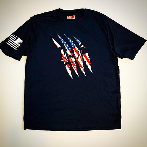 USA Grizzly Claw Mark T-Shirt