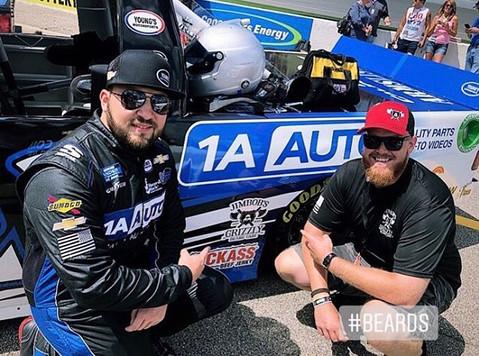 Spencer and JimBob before the race at Michigan International Speedway