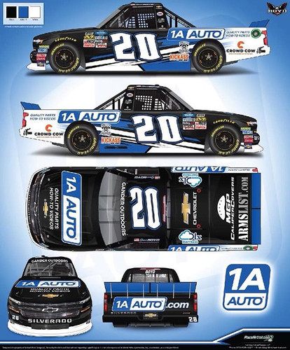 The #20 Chevy Paint Scheme for the Michigan race