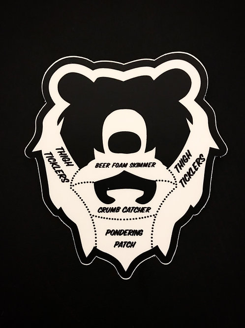 Grizzly Beard Anatomy Sticker