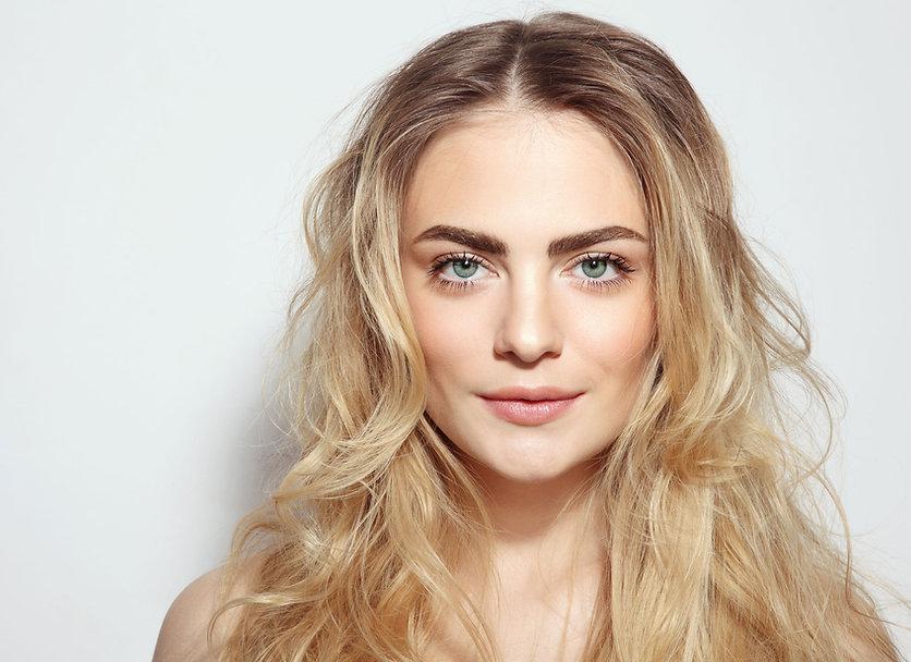 Frau mit Make-up