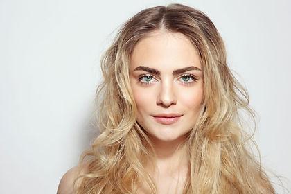 Femme avec le maquillage